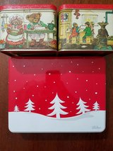 2 Small and 1 Medium Sized Christmas Cookie Tins in Pearland, Texas