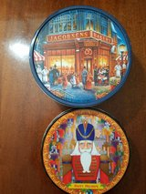 2 Large Circular Christmas Cookie Tins in Pearland, Texas