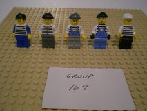 5 Lego Criminals Minifigs Group 169 in Aurora, Illinois