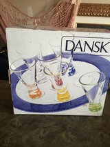 Dansk shot glass with tray in Shorewood, Illinois