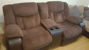 Brown Love Seat Recliner in Hohenfels, Germany