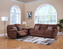 NEW HIGH QUALITY SOFA AND LOVE SEAT RECLINER SET in San Bernardino, California