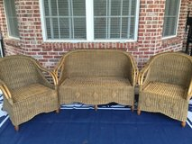 Wicker love seat and 2 chairs in Dothan, Alabama