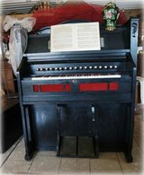 antique pump organ fully functional with matching stool in Spangdahlem, Germany