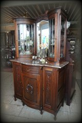 rare display cabinet with rounded doors and facetted glass in Stuttgart, GE