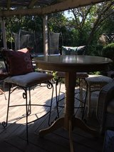 : )  Pub Table & 2 Wrought Iron Chairs >>>Perfect for Pool Table or Bar Seating !!! in St. Charles, Illinois
