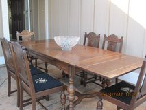 Unique 1940's Solid Wood Table And 6 Chairs in Travis AFB, California