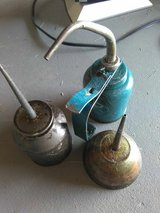 Antique oil cans in Cleveland, Ohio