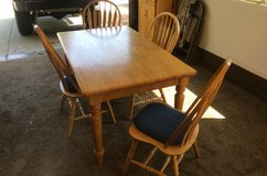 Strong Oak Table & 4 Chairs in Travis AFB, California