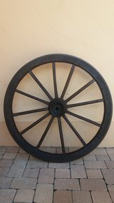 Antique Large Wooden Cart Wheel in Spangdahlem, Germany