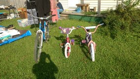 2 kid girl bikes & 1 adult in Cherry Point, North Carolina
