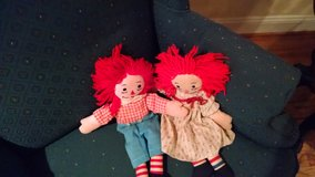 Raggedy Ann and Andy dolls in Cherry Point, North Carolina