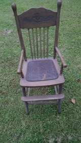 Child's high chair in Cherry Point, North Carolina