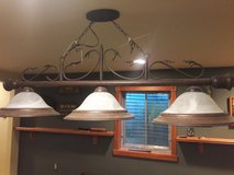 Pool Table or Kitchen Island 3 Shade Bronze Scroll Light/50% Off Regular Price/Like New! in Sugar Grove, Illinois