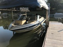 17.5' 1995 Glastron 170 Evinrude boat with 150 outboard engine rebuilt in 2015 in Sandwich, Illinois