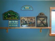 Price Reduced! Pool Table/Game Room Wall Decor/Like New in Wheaton, Illinois