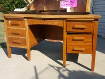 solid oak antique teachers desk in Fort Leonard Wood, Missouri