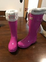 Girls Hunter Boots with hunter socks! in Hohenfels, Germany