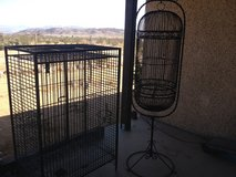 Bird cages in Yucca Valley, California