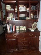 China Cabinet Dark Teakwood in Conroe, Texas
