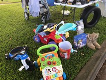 Yard sale in Schofield Barracks, Hawaii