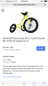 Dynacraft Cyco Cycle 20 in Schofield Barracks, Hawaii
