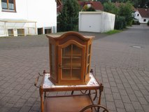 lovely miniature china cabinet with glass door in Ramstein, Germany