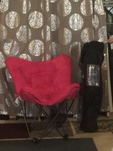 Pink and Black Butterfly Chairs in Oswego, Illinois