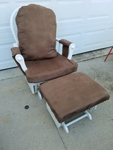 Brown / Microfiber / 2 Piece Glider Rocker & Stool Set in Fort Campbell, Kentucky