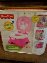 New / Fisher Price / Princess 2 In 1 Musical Stool & Potty in Fort Campbell, Kentucky