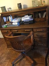 Antique Solid Wood Desk & Chair in Sugar Grove, Illinois