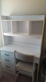 White desk/hutch, chair, and nightstand in El Paso, Texas