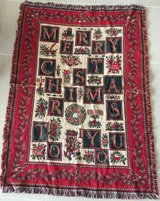 Merry Christmas Afghan Throw Blanket in Okinawa, Japan