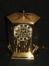 Vintage Elegant Anniversay Clock / Glass Etched Flowers by Kundo in Lockport, Illinois
