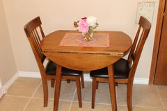 drop-leaf table and 2 chairs in Lawton, Oklahoma
