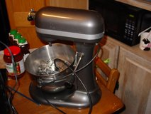 large kitchenaid mixer with bowl and 3 attachments in Fort Carson, Colorado
