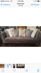 Grey-silver Home Goods Couch in Plainfield, Illinois