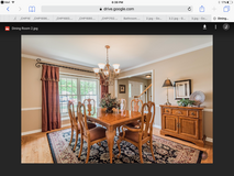 Dining room set and server in Wheaton, Illinois