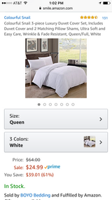 4 White queen duvet covers with pillow case in Fort Campbell, Kentucky