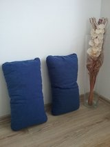 2 blue microfiber pillows in Baumholder, GE