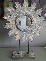 Weathered Gray Mirror on stand in Sandwich, Illinois
