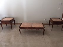 Antique marble coffee and side tables in Naperville, Illinois