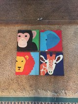 4 animal canvas wall hangings in Perry, Georgia