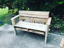 hand made bench in Fort Belvoir, Virginia