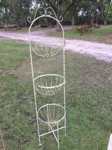 Large rod iron plant stand in Moody AFB, Georgia