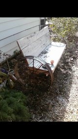 old bench in Moody AFB, Georgia