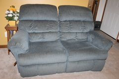 LAZY BOY Recliners Living Room Couch Loveseat and single Blue lot of 3 in Bartlett, Illinois