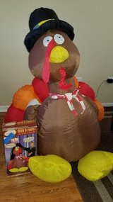 Thanksgiving Blow Up Turkey Decoration in Sugar Grove, Illinois