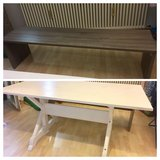 Dining Table White 160cm x 90cm x75cm with Bench in Stuttgart, GE