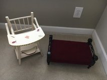 Doll Bed and Doll High Chair in Sugar Grove, Illinois